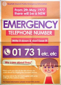"Scarfolk Council: ""Emergency Services Telephone Number"" (1977-1979)"