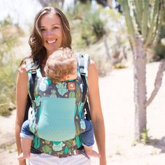 Cactus Mesh Baby Carrier. Cacti Coast Free-to-Grow Baby Carrier.