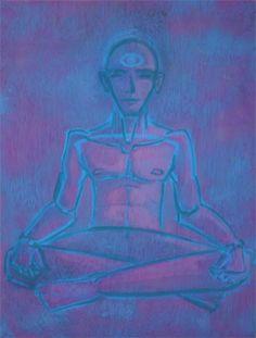Meditation. Urban Kôan. Graphic creative studio. Art by Blanca de la Torre. www.urbankoan.com  #urban #koan #web #digital #studio #design #graphic #branding #web #development #programming #advertising #creatives #art #drawing #illustration #painting #Logo #meditation #budha #eye #men #man #mystic #tao #union #ohm