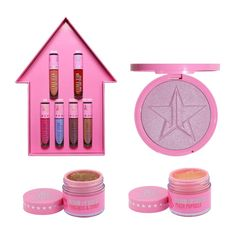 Jeffree Star Star Family Master Collection Holiday The Lipsticks go on like butter, the lip scrubs smell and taste soooo yummy, and the Skin Frost of NEFFREE makes you look like the magical unicorn that you are! Makeup Needs, Love Makeup, Makeup Brands, Makeup Products, Beauty Products, Jeffrey Star Cosmetics, Youtuber Merch, Skin Frost, Makeup Package