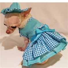 Puppy Love Dog Harness Dress 4 Piece Set - Dress, Hat and Leash