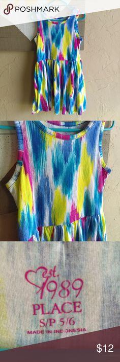 Place girls dress size 5/6 Multicolor dress. Good condition. #2078 Children's Place Dresses Casual