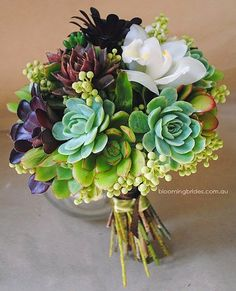 Succulent bouquet....love it! My Big Day Events, Colorado Parties, Planning, Weddings, Events http://www.mybigdaycompany.com/