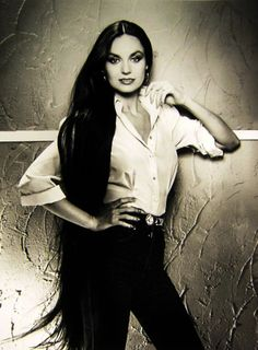 """Haha next time someone asks me, """"how long are you going to let your hair grow out?"""" and i'll say, """" I'm going for Crystal Gayle"""""""