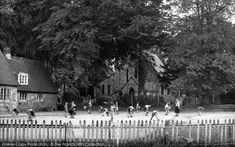 Crawley Down, the School and Church c1955, from Francis Frith School Days, After School, Old Post Office, Nostalgic Images, 1950s Style, Will Turner, Private School, The Good Old Days, Detached House