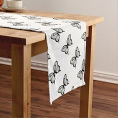 Valley Sage Huntsman Butterfly Short Table Runner - nursery ideas gift present idea diy individual customized