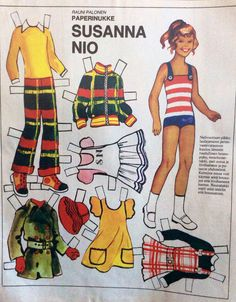 Paper doll Susanna Nio early of Fabric Doll Pattern, Fabric Dolls, American Girl Parties, Vintage Paper Dolls, Retro, Fun, Paper Puppets, Baby Dolls, Paper Dolls