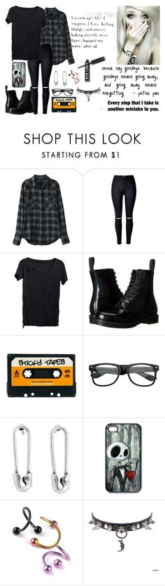 """""""shattered sight"""" by ejoygnow ❤ liked on Polyvore featuring LnA, Dr. Martens, ASOS, Retrò, Disney Couture and Disney"""