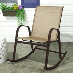Patio Rocking Chair Recliner and Glider Metal Desk Chair for Outdoor by S'DENTE Wooden Dining Room Chairs, Wicker Chairs, Accent Chairs For Living Room, Patio Chairs, Glider Rocking Chair, Outdoor Rocking Chairs, Swinging Chair, Outdoor Patio Swing, Polywood Adirondack Chairs