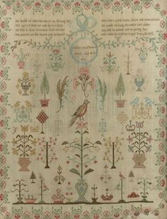 An early 19th century needlework sampler: with