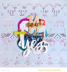#papercrafting #scrapbook #layout: YES by @paigeevans for Studio Calico