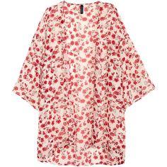 H&M Kimono 5,99 ($18) ❤ liked on Polyvore featuring intimates, robes, kimono, jackets, tops, outerwear and kimono robe