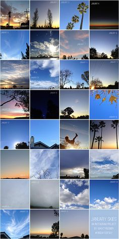 photo project: sky in each day of january by katy regnier, via Flickr