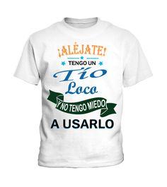 Tío Loco!  #birthday #october #shirt #gift #ideas #photo #image #gift #costume #crazy #nephew #niece