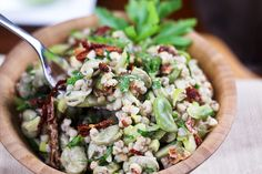 Creamy Buckwheat and Fava Bean Salad with Sun-dried Tomatoes