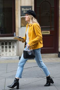 57ec101d6a2b1 50 Fall Outfit Ideas That Will Have You Excited For Cooler Weather. Yellow  OutfitsYellow Jacket ...
