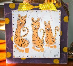 tiger footprint plaques
