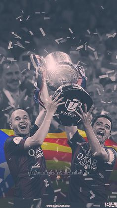 Iniest and Xavi lifting Copa Del Rey trophy wallpaper Barcelona Team, Xavi Barcelona, Soccer Stars, Football And Basketball, Football Players, Cr7 Messi, Messi And Ronaldo, Team Wallpaper, Football Wallpaper