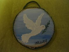 The dove of peace Wood Crafts, Decorative Plates, Peace, Home Decor, Decoration Home, Room Decor, Wood Turning, Woodworking Crafts, Home Interior Design