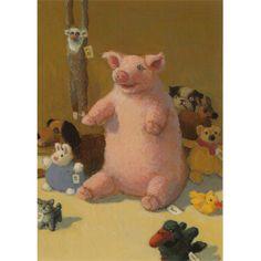 MICHAEL SOWA Michael Sowa, Children's Book Illustration, Book Illustrations, Pig Drawing, Surrealism Painting, Surreal Art, Whimsical, Dinosaur Stuffed Animal, Teddy Bear