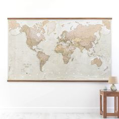 World antique megamap 120 laminated wall map wall maps details about giant world antique megamap large wall map laminated encapsulated high quality gumiabroncs Gallery