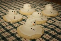 Melting Snowman Cookies
