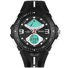 Wrivan Sport Digital Waterproof Analog Watch for Boys Chronograph Stopwatch * Find out more about the great product at the image link.(This is an Amazon affiliate link)
