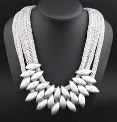 Multilayer European Style Rope Chain Chocker Necklace for Women