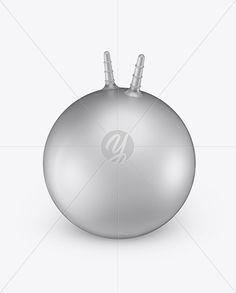 Metallic Hopper Ball Mockup