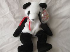 Vintage Beanie Baby 1997 Fortune the Panda by jclairep on Etsy