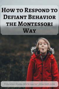 How to Respond to Defiant Behavior the Montessori Way – Volcano Mama