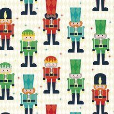 Riley Blake Designs - Nutcracker Christmas - Nutcracker Main in Cream