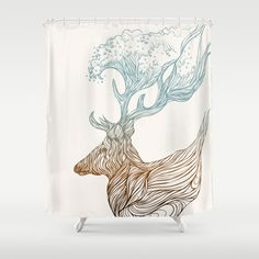 To+The+Ocean+Shower+Curtain+by+Huebucket+-+$68.00