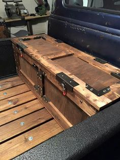 Custom wooden bed box!