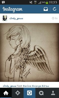 Draw. Anime. Manga. Girl. Sketch. Angel. Cry