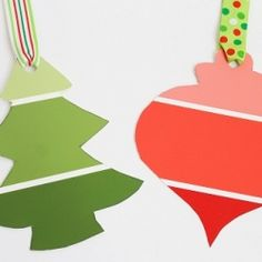 Paint Chip Gift Tags!