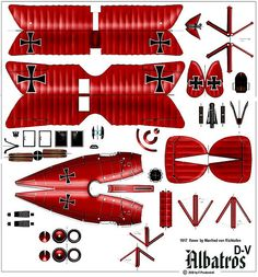 Albatross D-V (1917 - Manfred von Richthoffen)