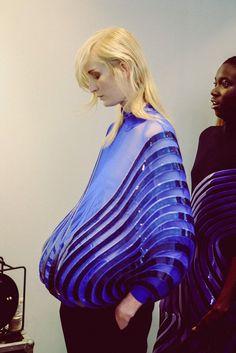 #wearatable #art #fabric #manipulation #silhouette # #plastic #skeletons…