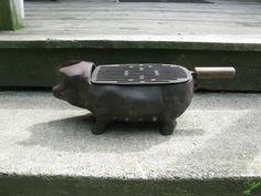 Vintage Cast Iron Pig Grill Hibachi BBQ   eBay