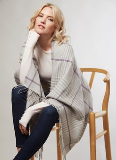 Elegant and beautifully soft, this extra fine merino wool wrap has been lovingly made in Ireland. Drape over your shoulders for a formal occasion or wear as a wide scarf. Woolen Mills, Ireland Vacation, Summer Collection, Merino Wool, Spring Fashion, How To Make, How To Wear, Spring Summer, Gift Ideas