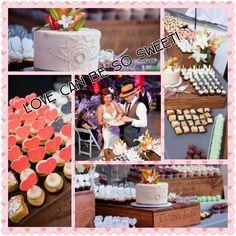 Art Deco Wedding Dessert Table.  Bakery: Happy Cakes, Denver, CO