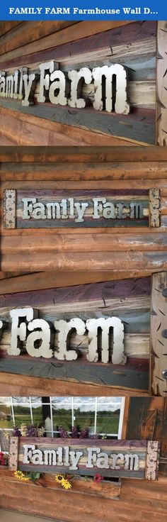 FAMILY FARM Farmhouse Wall Decor Sign Reclaimed Pallet Shutter BURG Blue HORIZONTAL. This is a beautiful Rustic Lg Family Farm Shutter! It has been distressed to give it that RECLAIMED look!! The character in this piece is exquisite! Great gift for those that live on a farm, current farmers, retired farmers, or those that are farmers at heart! :) *The words can not be customized. Check out our other listings to see other color options! Materials: Shutter -Wood Word -Metal Rivets -Metal...