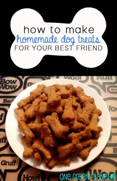 How to Make Homemade Dog Treats for Your Best Friend onegr.pl/1yFqoka #vegan #veganpets #recipe #diy