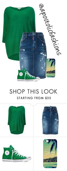 """""""Apostolic Fashions #1383"""" by apostolicfashions on Polyvore featuring Studio 8, Dsquared2, Converse and Casetify"""