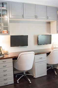 50 Cheap IKEA Home Office Furniture with Design and Decorating Ideas – DecoRewarding, – Executive Home Office Design Ikea Home Office, Home Office Cabinets, Ikea Kitchen Cabinets, Home Office Space, Home Office Furniture, Small Office, Kitchen Office, Ikea Office Storage, Ikea Office Hack