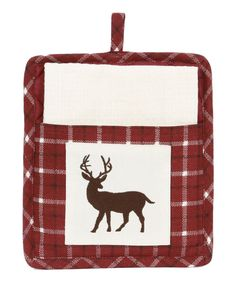 Look at this Dennis East International Red Buck Pot Holder - Set of Two on #zulily today!
