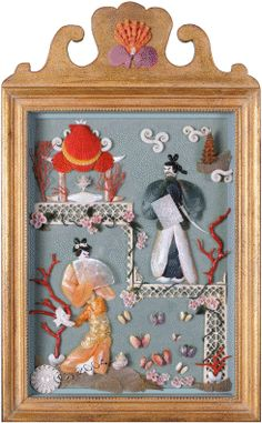 A Tapestry of Family & Shells - the gorgeous shell art of Amy Ramsey http://www.bobamy.com/shellwork/