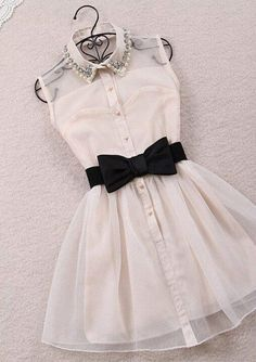 White bow dress tumblr color