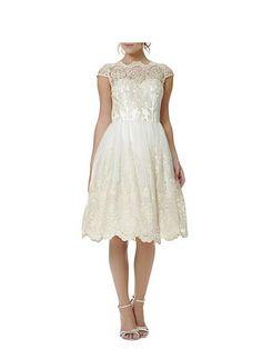 Metallic Lace Tea Dress