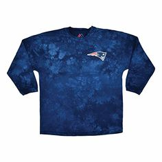 UnisexAdult Nfl Jersey Long Sleeve TieDye Cotton TShirt  New England Patriots  L -- You can get more details by clicking on the image.